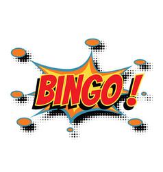 Bingo comic word vector