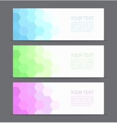 Banners set for business modern background design vector