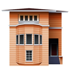 A tall brown building vector