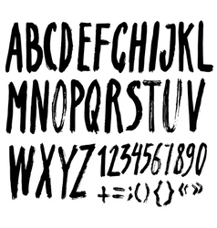 Alphabet brushpen 8 vector
