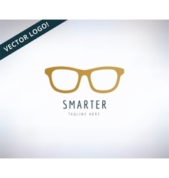 Glasses icon education and smart stock vector