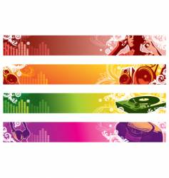 Music web banners vector