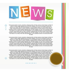 Education news vector