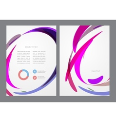 Abstract modern bright multicolored flyer vector image vector image