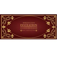 al 0649 invitation 02 vector image