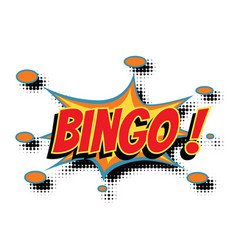 Bingo comic word vector