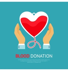 Blood donation poster vector