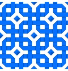 Blue crossed ribbons Seamless pattern vector image vector image