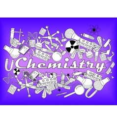 Chemistry coloring book vector