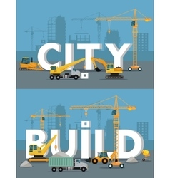 City Build Concept in Flat Design vector image vector image