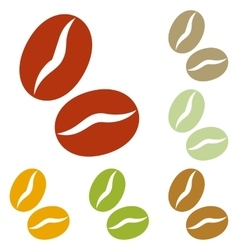 Coffee beans sign vector image vector image