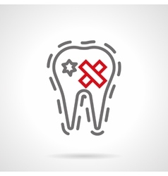 Dental disease simple line icon vector