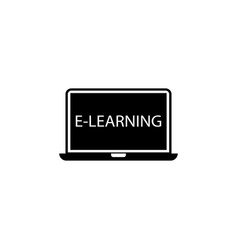 E-learning solid icon education school element vector