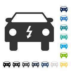 Electric car icon vector