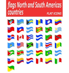 flags North and South Americas countries flat vector image