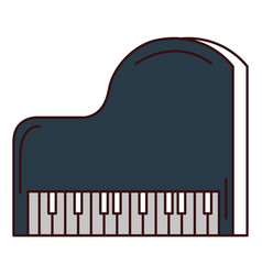 Grand piano instrument musical vector