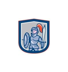 Knight shield sword shield cartoon vector
