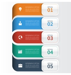 Modern Business Infographics Options Template vector image