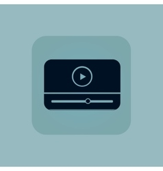 Pale blue mediaplayer icon vector
