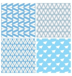 Paper Planes Seamless Pattern Set Four Repeating vector image vector image