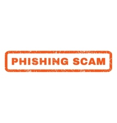 Phishing scam rubber stamp vector