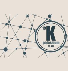 potassium chemical element vector image vector image