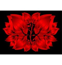 Red petals pattern vector