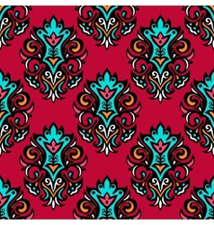 Red royal damask flower seamless vector