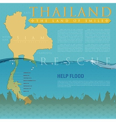 Rescute South of THAILAND Flood vector image vector image