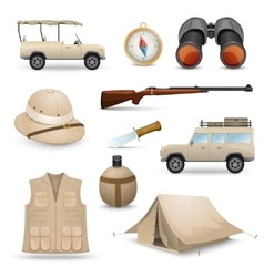 Safari icons for hunting vector