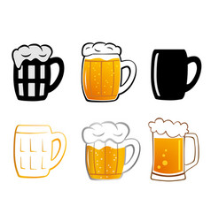 set lager beer icon vector image