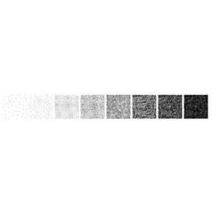 set of stipple pattern vector image
