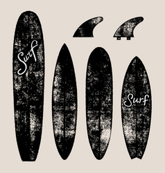 Set of surf boards vector