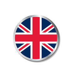 united kingdom flag badge vector image vector image