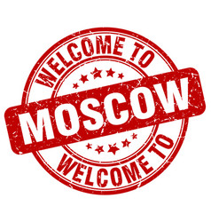 Welcome to moscow vector