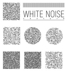 White noise interference textures set vector