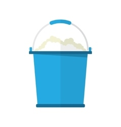 Bucket with soap bubbles vector