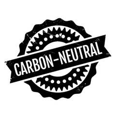 Carbon-neutral rubber stamp vector