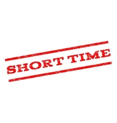 Short time watermark stamp vector