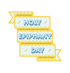 Holy epiphany day greeting emblem vector