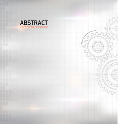 Abstract gear wheel background vector