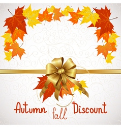 Autumn fall discount on white vector
