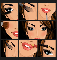 Make-up beauty woman vector