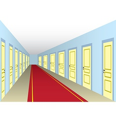 Hall with doors vector