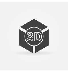 3d print logo or icon vector