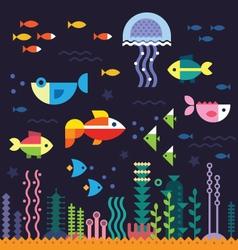 Sea underwater life vector