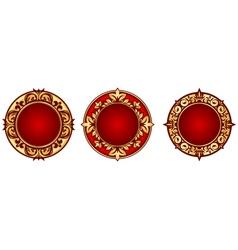 set of vintage circle frames vector image