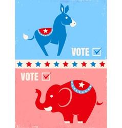 usa vote vector image