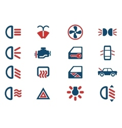Car interface sign vector