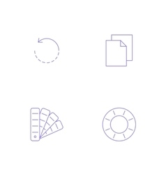 Graphics designer tool icon vector